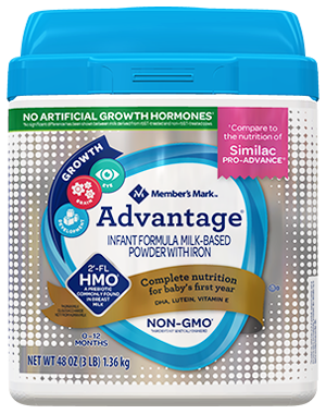 Member's Mark Advantage Baby Formula