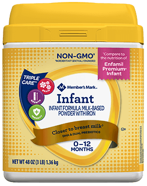 Member's Mark Infant Formula Compare to Enfamil Infant